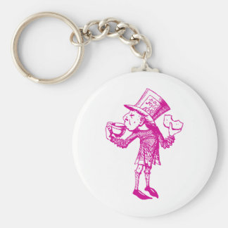 Haigha (Mad Hatter) Inked Pink Keychain
