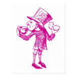 Haigha (Mad Hatter) Inked Pink Post Card