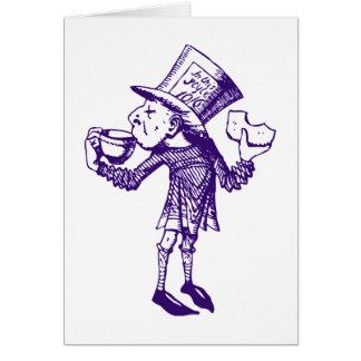 Haigha (Mad Hatter) Inked Purple Greeting Card