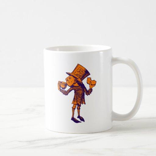 Haigha (Mad Hatter) Inked Purple Orange Coffee Mugs