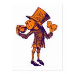 Haigha (Mad Hatter) Inked Purple Orange Post Cards