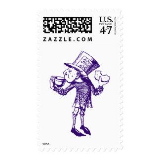 Haigha (Mad Hatter) Inked Purple Postage Stamp