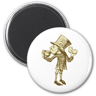 Haigha (Mad Hatter) Inked Sepia Magnet