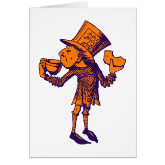 Haigha (sombrerero enojado) entintó el naranja púr tarjeta de felicitación