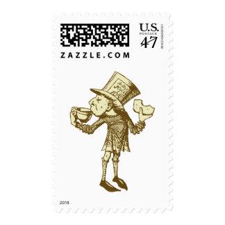 Haigha, the Anglo-Saxon Messenger Inked Sepia Postage Stamp