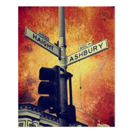 Haight and Ashbury Poster