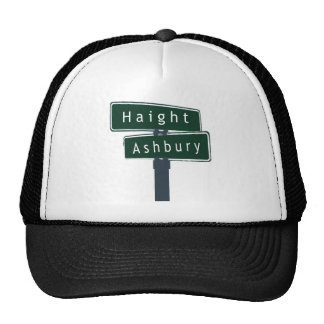 Haight Ashbury Classic Street Sign Hats