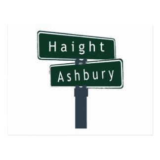 Haight Ashbury Classic Street Sign Postcard
