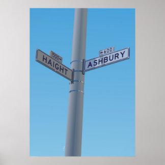 Haight - Ashbury Poster
