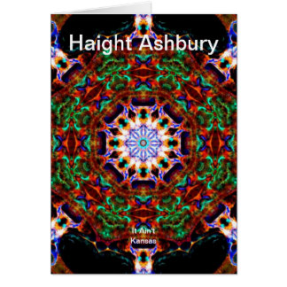 Haight Ashbury Psychedelic  Hippie Fashion Art Greeting Card