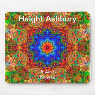 Haight Ashbury Psychedelic  Hippie Fashion Art Mouse Pads