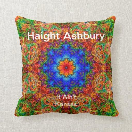 Haight Ashbury Psychedelic  Hippie Fashion Art Throw Pillows
