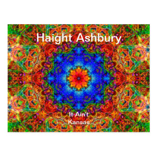 Haight Ashbury Psychedelic  Hippie Fashion Art Postcard