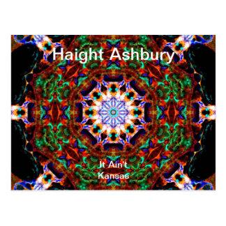 Haight Ashbury Psychedelic  Hippie Fashion Art Postcard