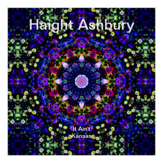Haight Ashbury Psychedelic  Hippie Fashion Art Poster