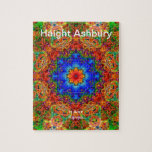 Haight Ashbury Psychedelic  Hippie Fashion Art Jigsaw Puzzles