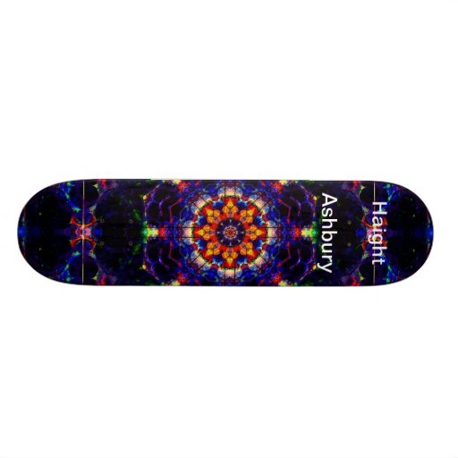 Haight Ashbury Psychedelic  Hippie Fashion Art Skate Decks