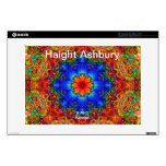 """Haight Ashbury Psychedelic  Hippie Fashion Art Decals For 13"""" Laptops"""