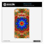 Haight Ashbury Psychedelic  Hippie Fashion Art Skin For iPhone 4S