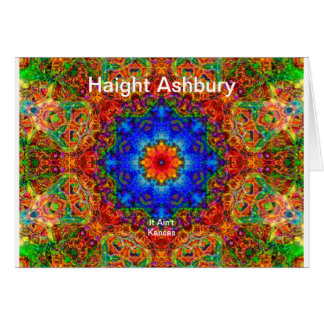 Haight Ashbury Psychedelic  Hippie Fashion Art Stationery Note Card