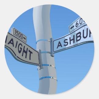 Haight Ashbury Warp Classic Round Sticker