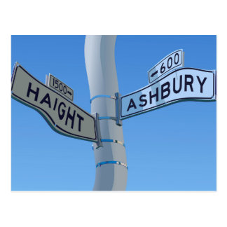 Haight Ashbury Warp Postcard
