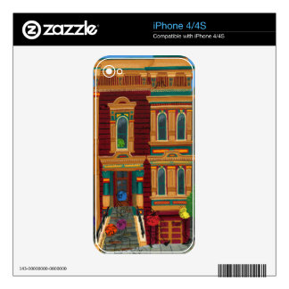 Haight Street House Skin For iPhone 4S