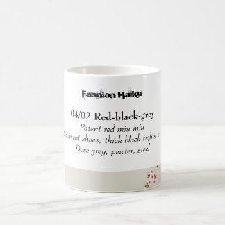 Haiku 02 de la moda taza básica blanca
