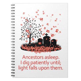 Haiku 2012 de la genealogía libro de apuntes