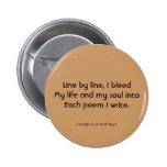 """""""Haiku 68"""" botón Pin"""