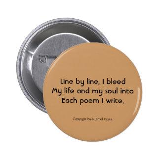 """""""Haiku 68"""" botón Pin Redondo De 2 Pulgadas"""