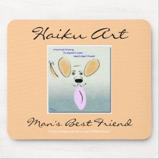 Haiku Art Man's Best Friend Mousepad