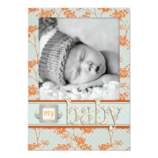Haiku Baby Announcement Card