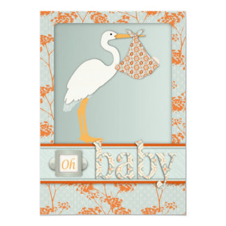 Haiku Baby Invitation Card