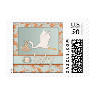 Haiku Baby Invite Stamp B