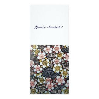 HAIKU/ BLACK WHITE YELLOW PINK SPRING FLOWERS CARD