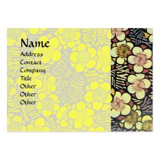 HAIKU, blanco negro rosado del amarillo Plantilla De Tarjeta Personal
