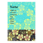 HAIKU ,blue turquase,pink white black Business Card Template