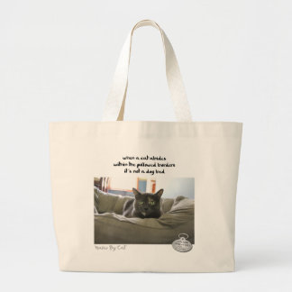 Haiku by Cat™: Abide Large Tote Bag