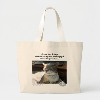 Haiku by Cat™: Drifting Large Tote Bag