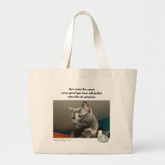 Haiku by Cat™: Dust Large Tote Bag