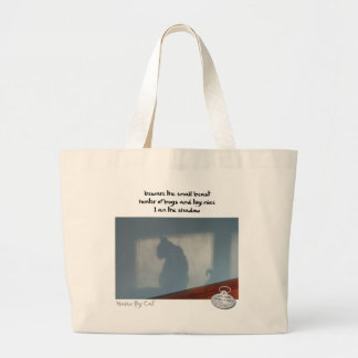 Haiku by Cat™: Shadow Large Tote Bag