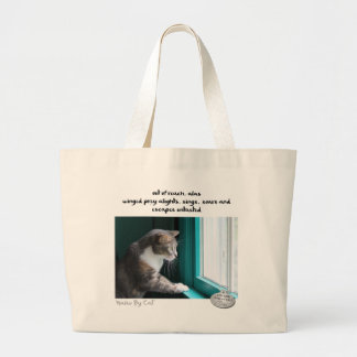Haiku by Cat™: Untasted Large Tote Bag