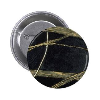 Haiku colorido en negro y oro pin