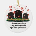 Haiku de la genealogía ornamento de navidad