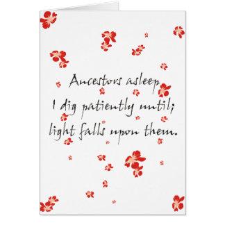 Haiku de la genealogía tarjeta pequeña