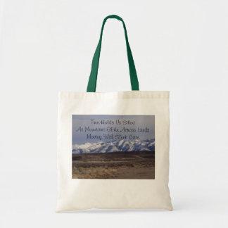 Haiku de la montaña bolsa tela barata