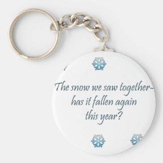 Haiku de la nieve llavero redondo tipo pin