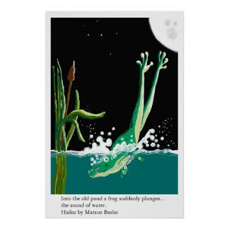 Haiku de la rana de Basho Impresiones
