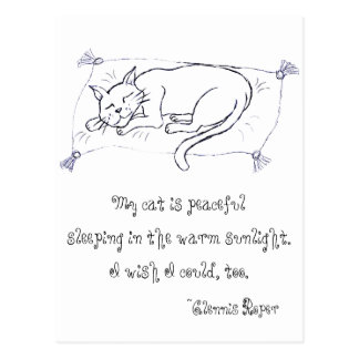Haiku de la siesta del gato postales